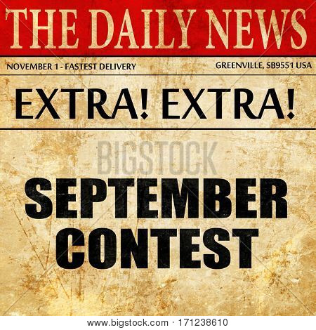 september contest, article text in newspaper