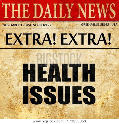 health issues, article text in newspaper