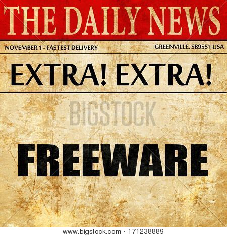 freeware, article text in newspaper