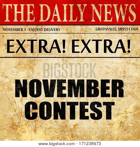 november contest, article text in newspaper