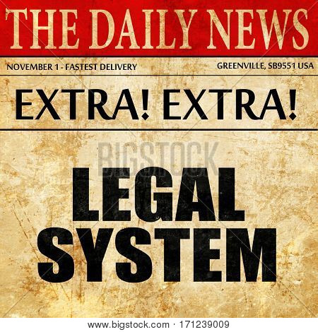 legal system, article text in newspaper
