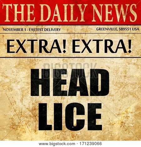 head lice, article text in newspaper