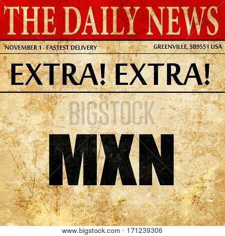 mxn, article text in newspaper