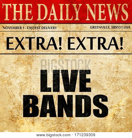 live bands, article text in newspaper