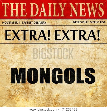 mongols, article text in newspaper