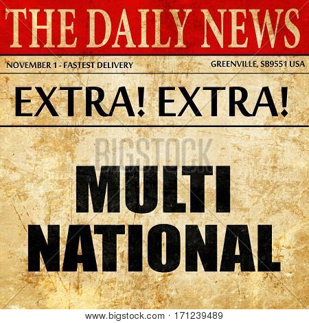multinational, article text in newspaper