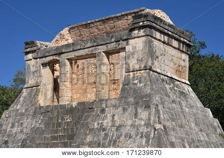 Building near Great Ball Court Chichen Itza Mexico