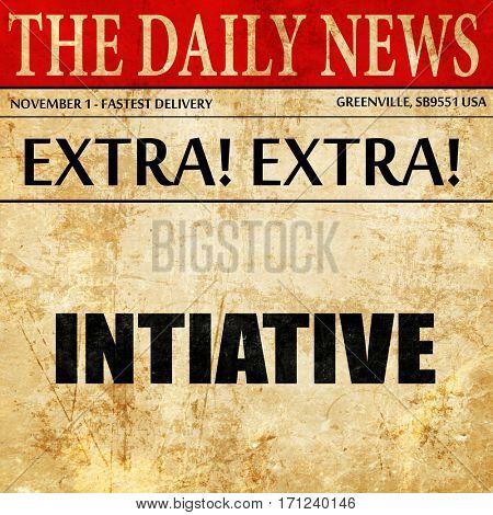 initiative, article text in newspaper