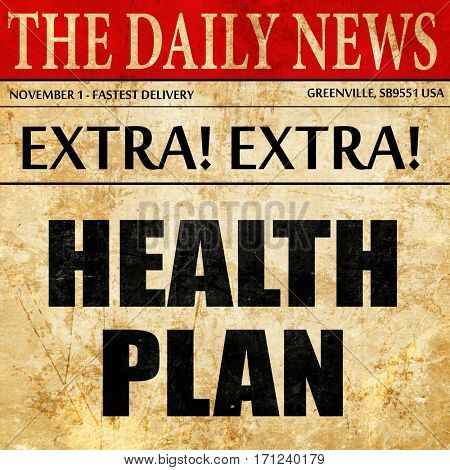 health plan, article text in newspaper