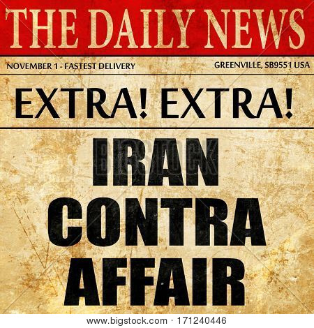 iran contra affair, article text in newspaper