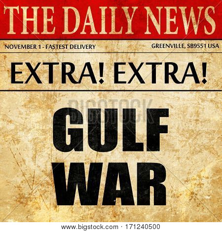 gulf war, article text in newspaper