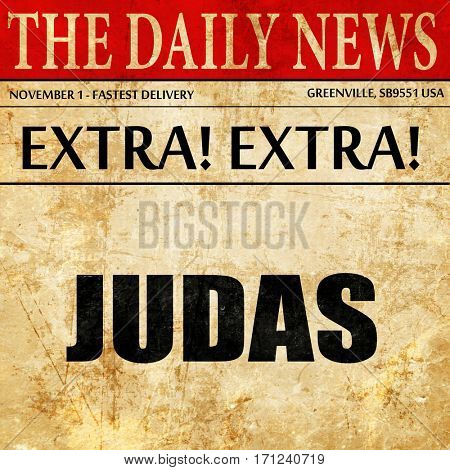 judas, article text in newspaper