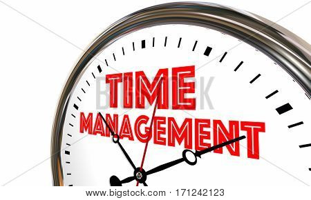 Time Management Efficient Clock Managing Projects 3d Illustration