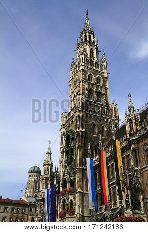 New Town Hall (rathaus) In Marienplatz