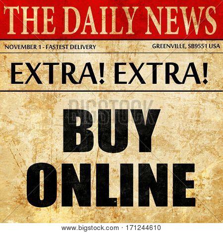buy online, article text in newspaper