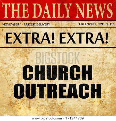 church outreach, article text in newspaper