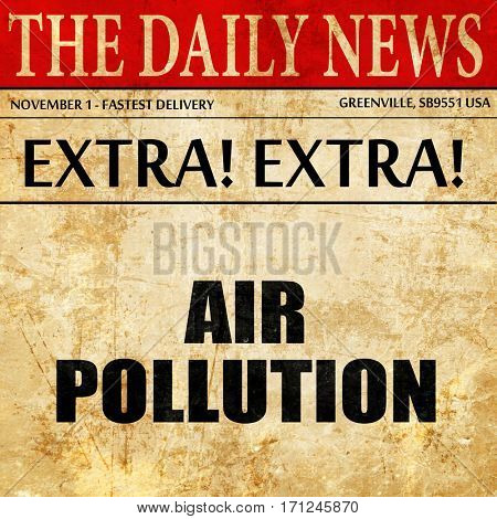 air pollution, article text in newspaper