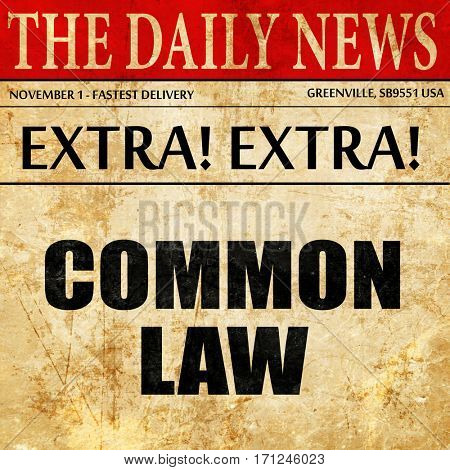 common law, article text in newspaper