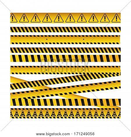 barrier tape ribbon icon image, vector illustration design
