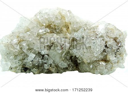 apophyllite semigem geode crystals geological mineral isolated