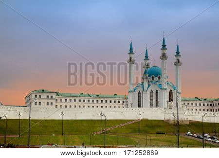 Qolsharif Mosque in Kazan Kremlin Republic of Tatarstan Russia