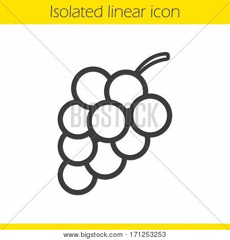Bunch of grapes linear icon. Thin line illustration. Contour symbol. Vector isolated outline drawing