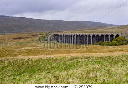Ribblehead Viaduct Also known as The Batty Moss Viaduct on the Settle to Carlisle rail line