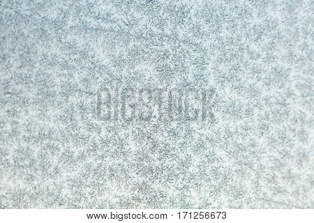 Frozen glass texture or background close up