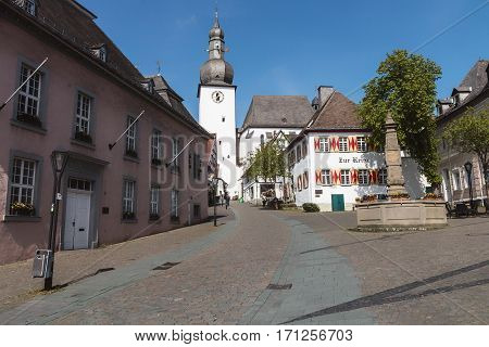 A street in a town in Germany.