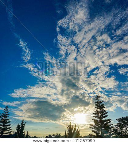 Beautiful Landscape With Nice Sky.
