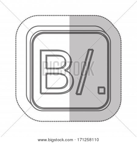 Panamanian balboa currency symbol icon image, vector illustration
