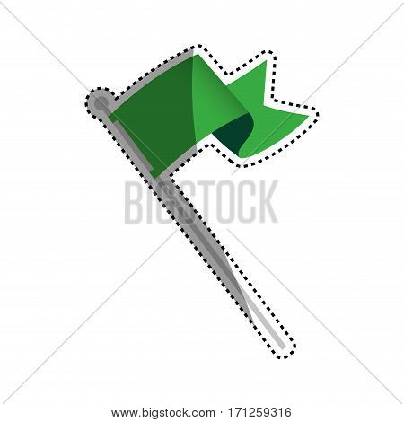 Flag or pennant icon vector illustration graphic design