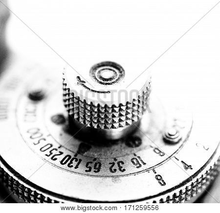 image of a detail of an old vintage camera