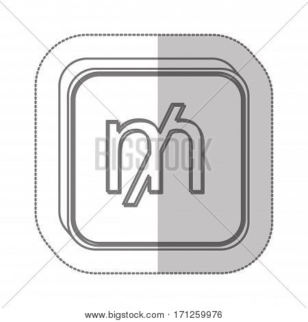 mill currency symbol icon image, vector illustration