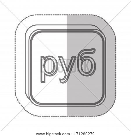 paraguayan guarani currency symbol icon, vector illustration
