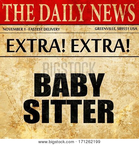 babysitter, article text in newspaper
