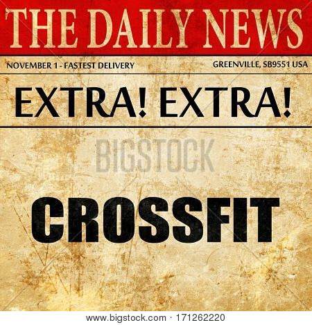 crossfit, article text in newspaper