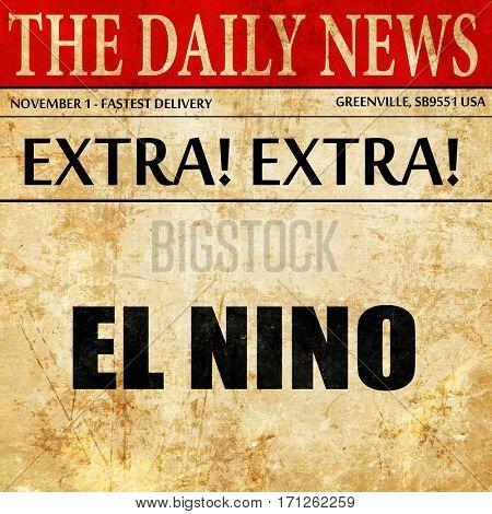 el nino, article text in newspaper