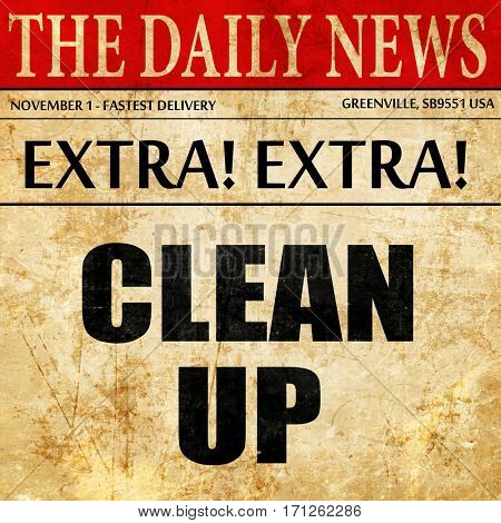 cleanup, article text in newspaper