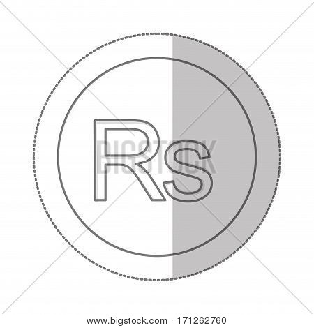 rupee currency symbol icon image, vector illustration