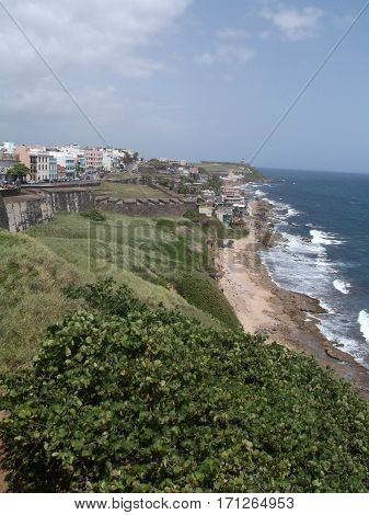View of Old San Juan from Castillo San Cristóbal