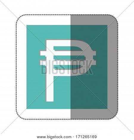 pesos currency symbol icon image, vector illustration