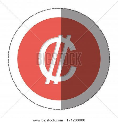 Colon currency symbol icon image, vector illustration