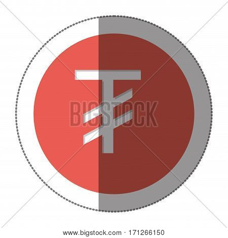 tugriks currency symbol icon image, vector illustration