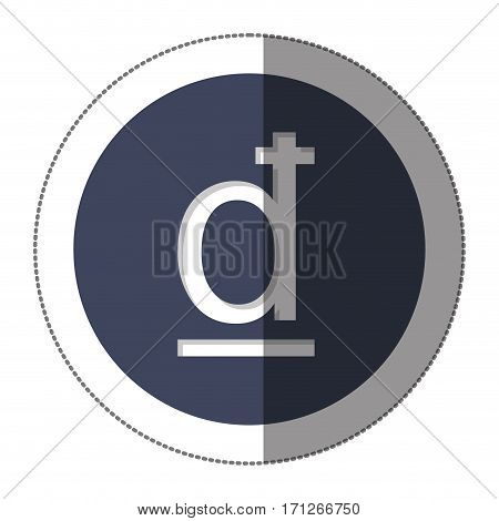 dong currency symbol icon image, vector illustration