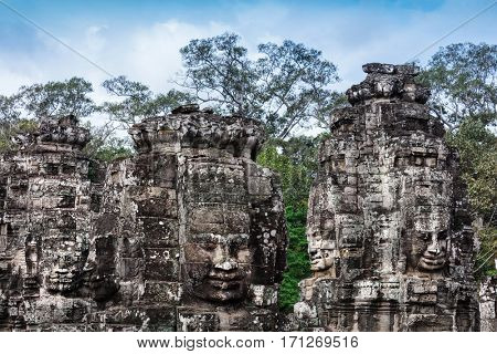ruins of the temple Bayon, Siem Reap