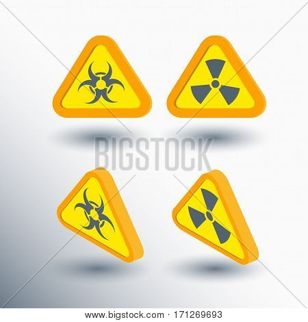 vector illustration chemical & radioactive health threats