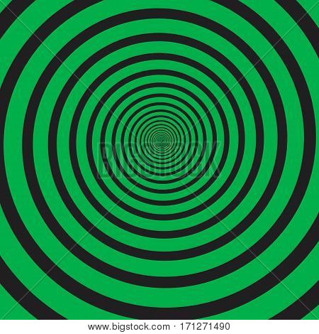 Vector abstract spiral background in bright colors. Optical illusion.
