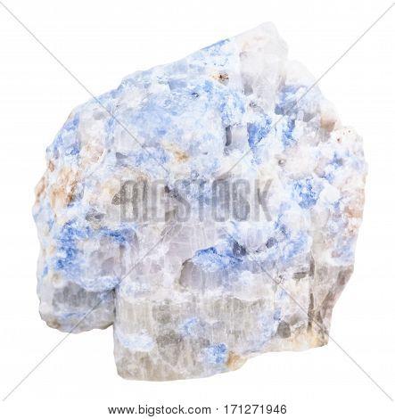 Sample Of Blue Wischnevite (vishnevite) Isolated