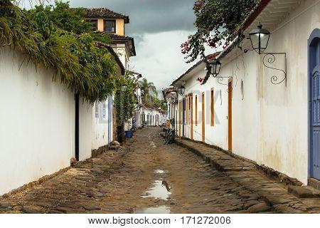 Street of the colonial city of Parati (Rio de Janeiro - Brazil)